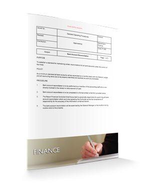 Bank Account Reconciliation : Finance : Sopforhotel.com : SOP