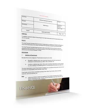 Fixed Assets Control : Finance : Sopforhotel.com : SOP