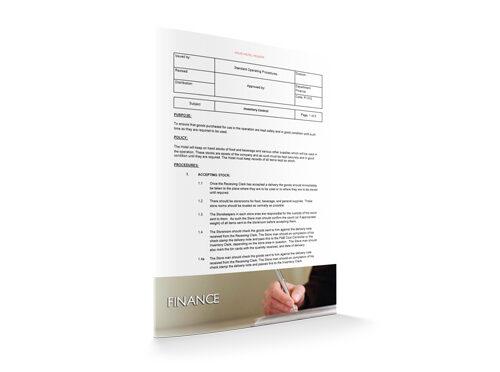 Inventory Control : Finance : Sopforhotel.com : SOP