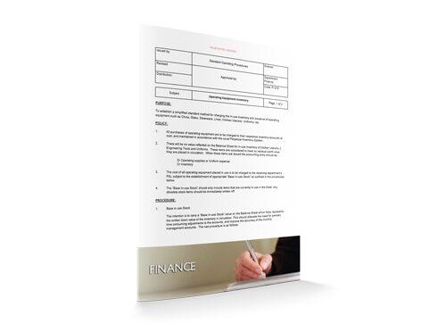 Operating Equipment Inventory : Finance : Sopforhotel.com : SOP