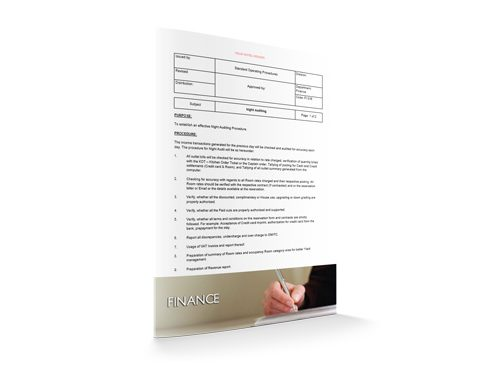 Night Auditing : Finance : Sopforhotel.com : SOP
