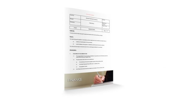 Payment Control : Finance : Sopforhotel.com : SOP
