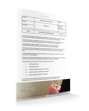 Personnel and Payroll Introduction : Finance : Sopforhotel.com : SOP