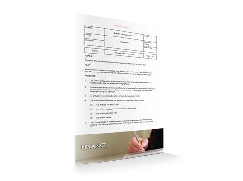 Provision for Doubtful Debt : Finance : Sopforhotel.com : SOP