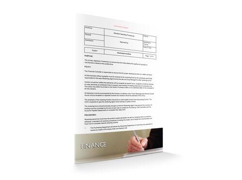 Receiving Procedure : Finance : Sopforhotel.com : SOP