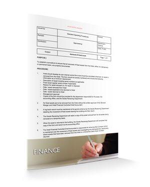 Removal of fixed Asset : Finance : Sopforhotel.com : SOP