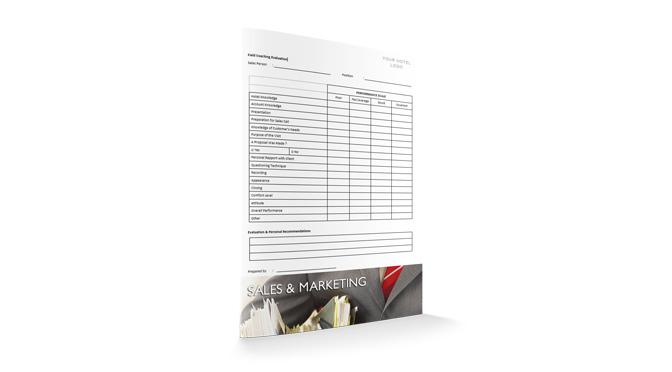 Field Coaching Evaluation : Sales : Sopforhotel.com : Report
